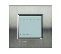 Декоративная рамка прямоугольной формы  Фактурная сталь