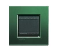 Декоративная рамка прямоугольной формы  Зеленый шелк