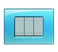 Декоративная рамка прямоугольной формы Голубой  поликарбонат