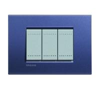 Декоративная рамка прямоугольной формы  Синий шелк