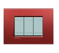 Декоративная рамка прямоугольной формы  Красный шелк