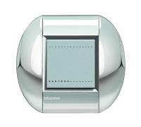Декоративная рамка овальной формы  Хром