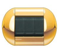 Декоративная рамка овальной формы  Золото