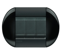 Декоративная рамка овальной формы Классический чёрный