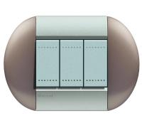 Декоративная рамка овальной формы Бронзовый