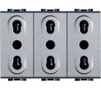 Блок из трёх розеток 2К+3