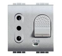 Розетка с автоматическим выключателем  16А